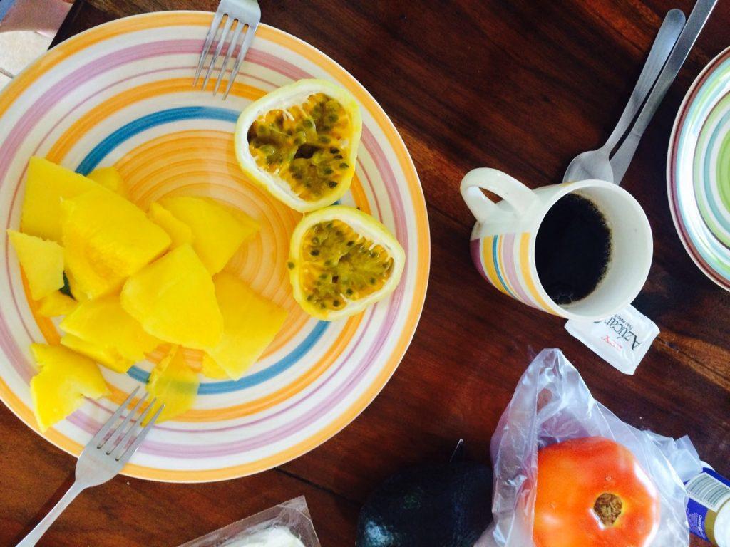 Breakfast at Pagalu Hostel, Puerto Viejo, Costa Rica